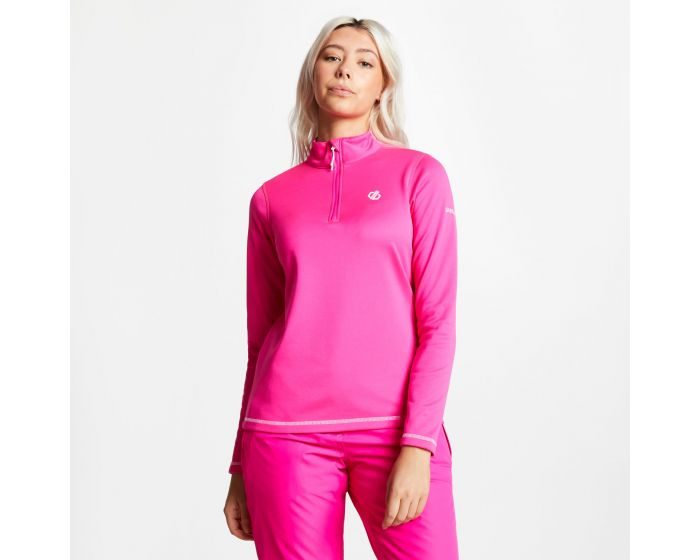 Womens Lowline Core Stretch Half Zip Midlayer Cyber Pink