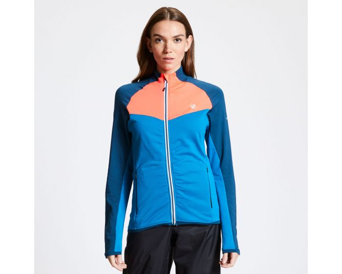 Womens Allegiance Ii Full Zip Core Stretch Midlayer Petrol Morrocan Blue