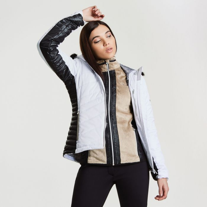 c8e3991403 Women s Comprise Luxe Ski Jacket White Black