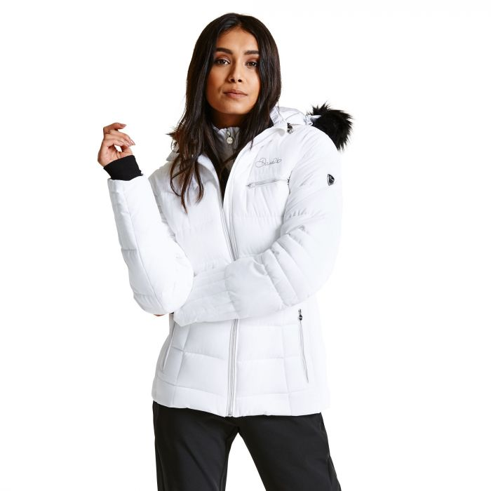 Women's Cultivated Luxe Ski Jacket White