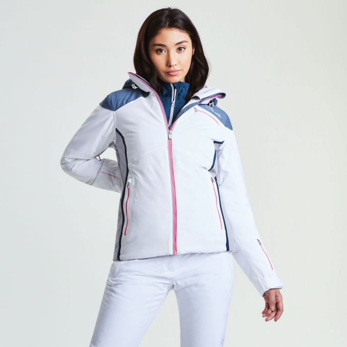 Women's Impromptu Ski Jacket White Mercury Grey Silver Flash