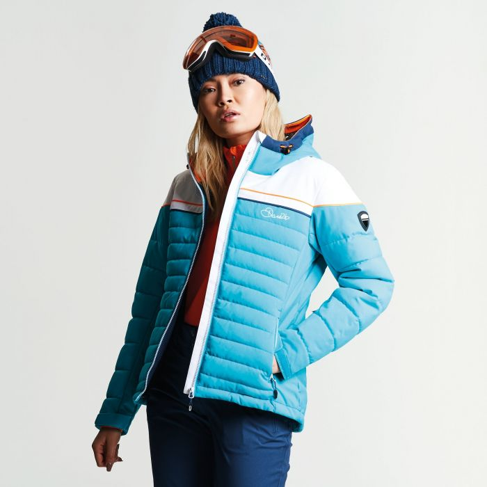 Women's Novela Ski Jacket Aqua White
