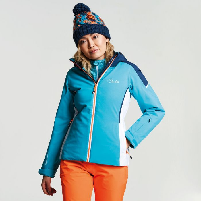 Women's Contrive Ski Jacket Aqua Blue  Wing
