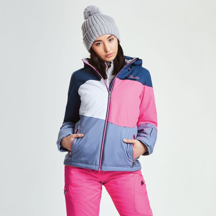 Women's Indestruct Ski Jacket Blue Wing Luminous Pink