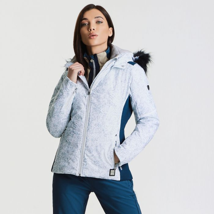 Women's Providence Luxe Ski Jacket White Animal Print