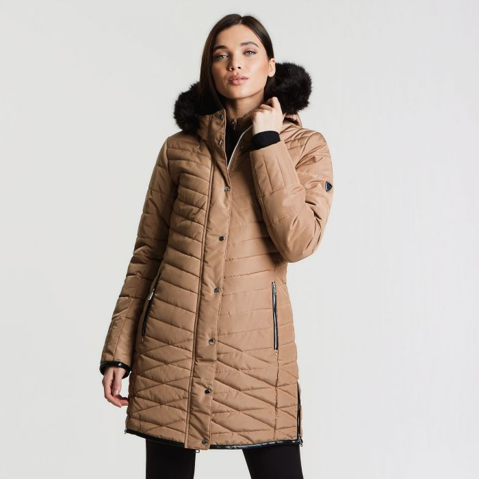 Women's Svelte Luxe Ski Jacket Mid Brown