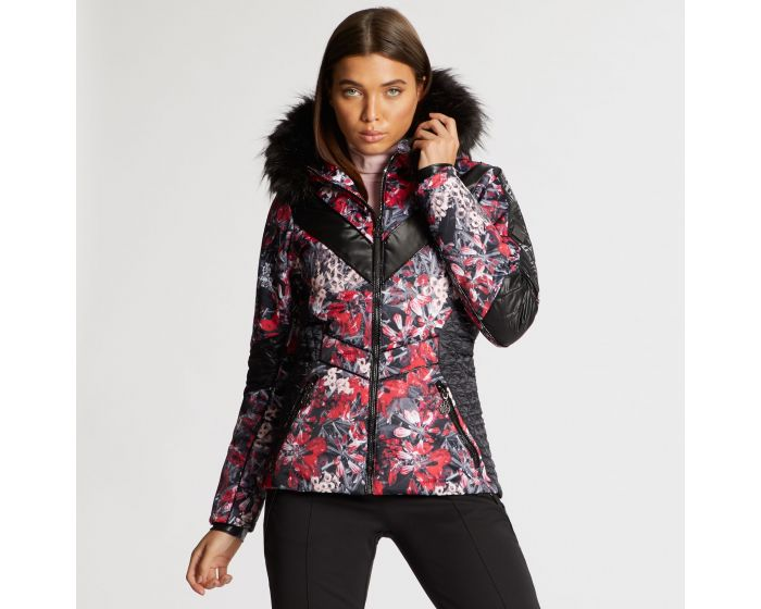 Dare 2b X Julien Macdonald - Womens Emperor Ski Jacket Red Jewel