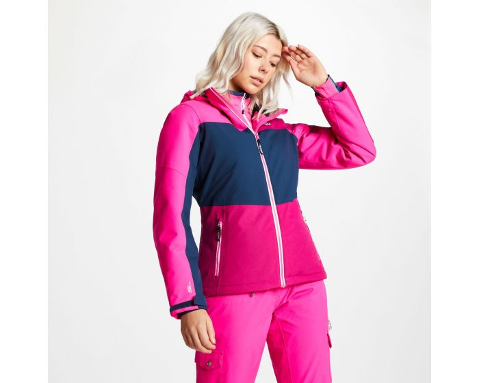 Womens Purview Ski Jacket Fuchsia Blue Wing Cyber Pink