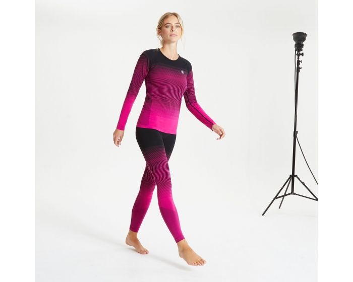 Women's In The Zone Performance Base Layer Set Active Pink Black | Dare2b