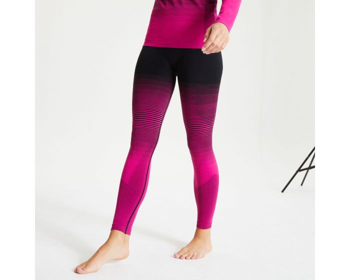 Women's In The Zone Performance Base Layer Leggings Active Pink Black |  Dare2b