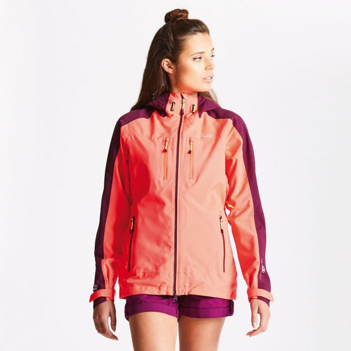Women's Surety Waterproof Jacket Neon Pink/Lunar Purple
