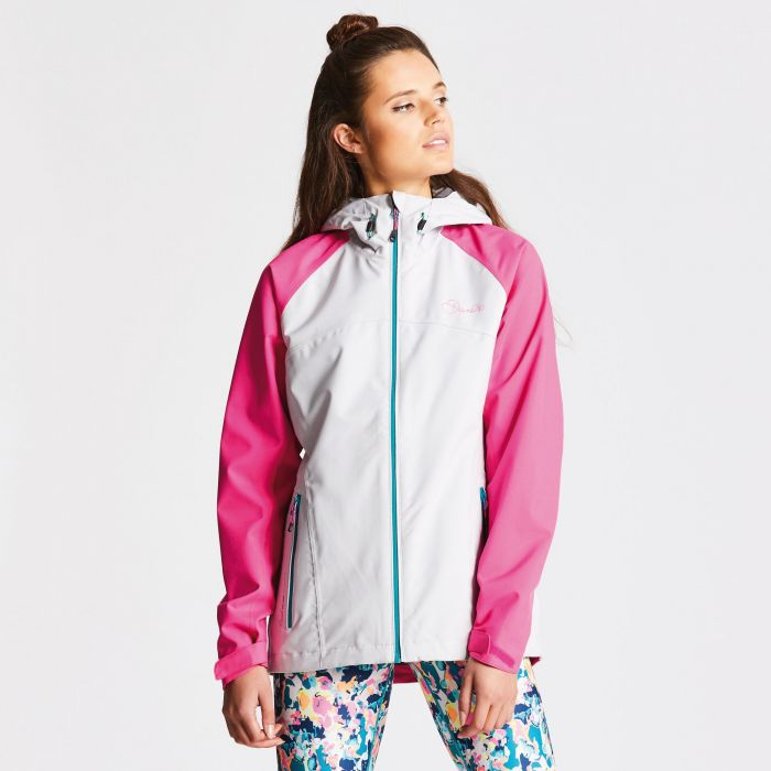 Women's Repute II Waterproof Jacket Cyberspace Grey/Cyber Pink