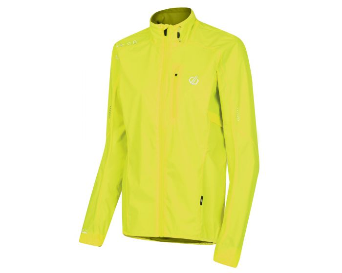 Womens Mediant Lightweight Reflective Waterproof Shell Jacket Fluro Yellow