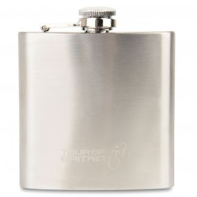 Adults 2017 Tour Of Britain Souvenir Hip Flask Silver