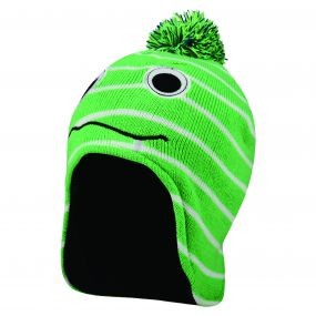 Kids Look Out Beanie Hat Acid Green
