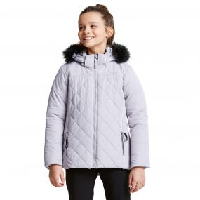 Kids Relucent Ski Jacket Silver Flash