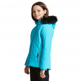 Kids Relucent Ski Jacket Aqua