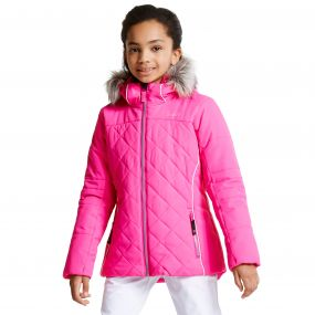 Kids Relucent Ski Jacket Cyber Pink