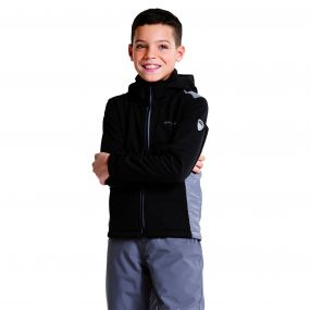 Kids Unravelled Softshell Jacket Black/Smokey