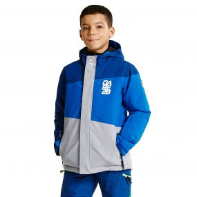 Kids Extempore Ski Jacket SlvFlsh/Lasr