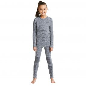 Kids Kids Zonal Base Layer Set Charcoal