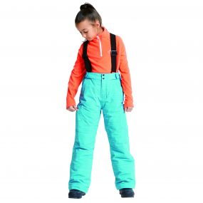 Kids Spur On Ski Pants Aqua
