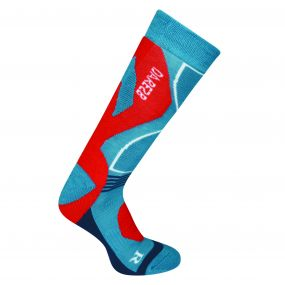 Men's Cocoon Tech Ski Socks Niagra Blue