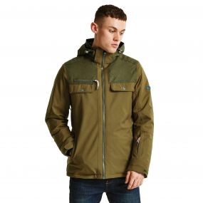 Men's Descant Ski Jacket Camo Green