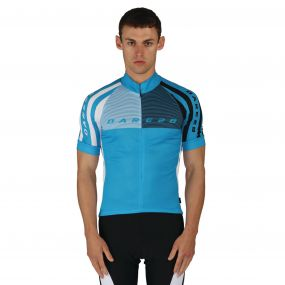 Men's AEP Chase Out Jersey Cycle Top Fluro Blue