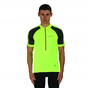 Men's Outstart Jersey Cycle Top Fluro Yellow