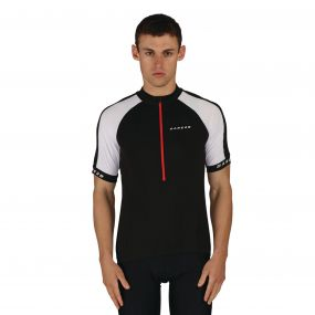 Men's Outstart Jersey Cycle Top Black