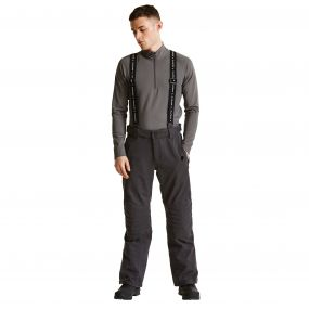 Men's Overshadow Black Label Ski Pants Anthracite Grey