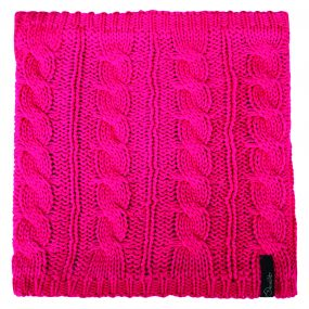 Weave Out Neck Gaitor Cyber Pink