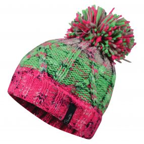 Women's Concerted Beanie Hat CyberPk/AcGr