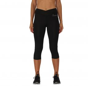 Women's Reasoned 3/4 Running Tights Black