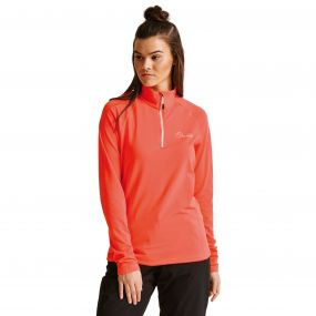 Women's Involve Core Stretch Midlayer Fiery Coral
