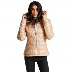 Women's Endow II Luxe Ski Jacket ChampagneGld