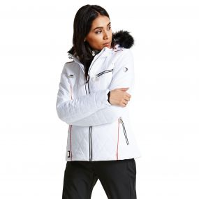 Women's Ornate Luxe Ski Jacket White