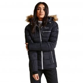 Women's Cultivated Luxe Ski Jacket Black