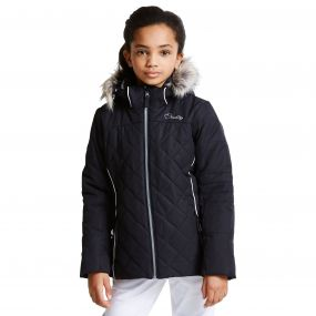 Kids Relucent Ski Jacket Black
