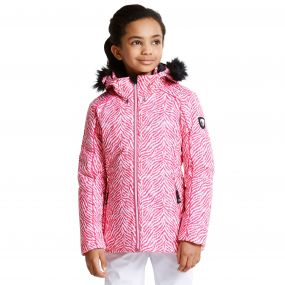 Kids Entrust Ski Jacket Cyber Pink
