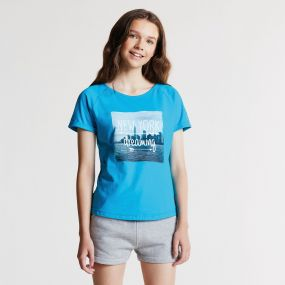 Kids Cut Out T-Shirt Sea Breeze Blue