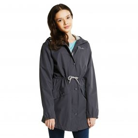 Kids Pledged Waterproof Shell Jacket Ebony Grey