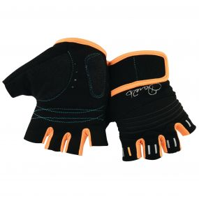 Kids Cycle Mitt Black/Orange Burst