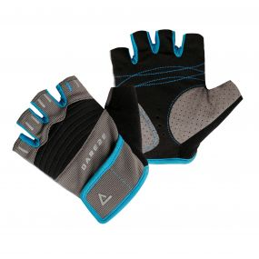 Kids Cycle Mitt Black   Blue Jewel