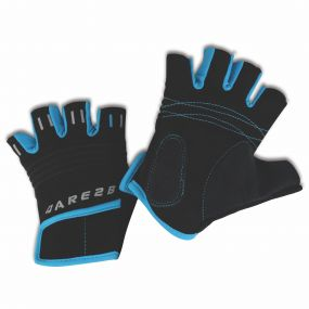 Kids Cycle Mitts Black/Fluro Blue