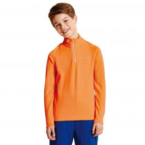 Kids Ricochet III Core Stretch Midlayer ShckingOrang