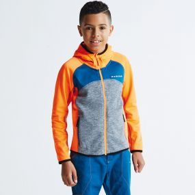 Kids Unscramble Core Stretch Hoodie Orange/Grey