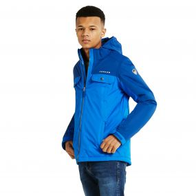 Kids Fledged Ski Jacket LaserBl/OxfB