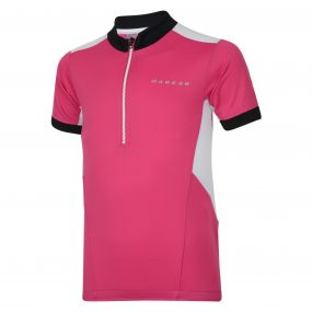 Kids Hotfoot Cycle Jersey Electric Pink